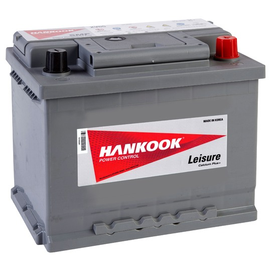 Hankook 65Ah Leisure Battery & Victron Energy Automotive IP65 Charger 12V/4A-12V/1A