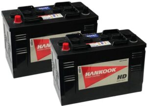 2x Hankook 663 Vented Batteries 12V 105Ah