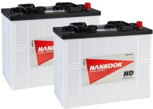 2x 62512 Hankook Vented Commercial Batteries 120Ah, Type 655