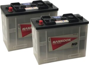 2x 62514 Hankook Vented Commercial Batteries 120Ah, Type 656
