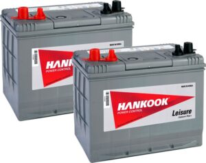 2x Hankook 88Ah Deep Cycle Leisure Batteries - DC24