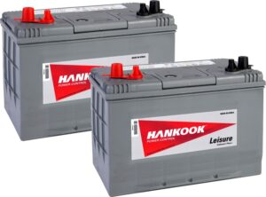2x Hankook 90Ah Deep Cycle Leisure Battery - DC27