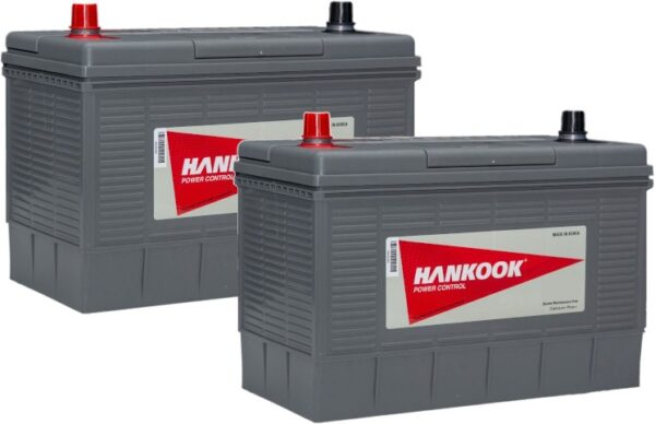 2x Hankook 100Ah Deep Cycle Leisure Battery - DC31S