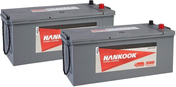 2x Hankook 629 180Ah Commercial Batteries - SHD68032