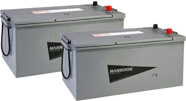 Pair of Hankook 625 Maintenance Free Batteries