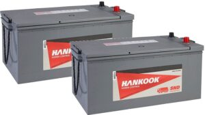 2x Hankook 625 UHP Maintenance Free Batteries MF72512