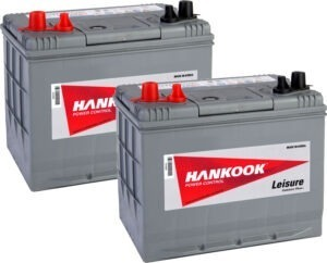 2x Hankook 72Ah Deep Cycle Leisure Battery MV24