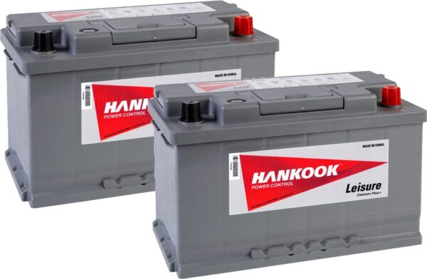 2x Hankook 85Ah Leisure Battery - XV85