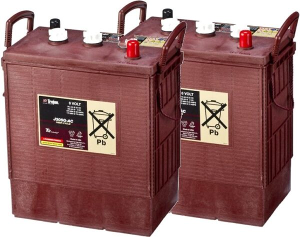 2x Trojan 6V Deep Cycle Battery - J305G
