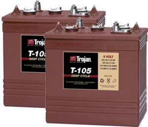 Trojan T-105 Multi Purpose, Flooded Deep-Cycle Battery x2