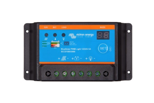 Victron Energy BlueSolar PWM Light Charge Controller 12/24V-5A - SCC010005000