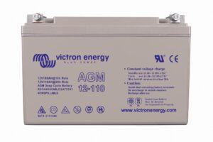 Victron Energy AGM Deep Cycle Battery 12V 110Ah (M8) - BAT412101085