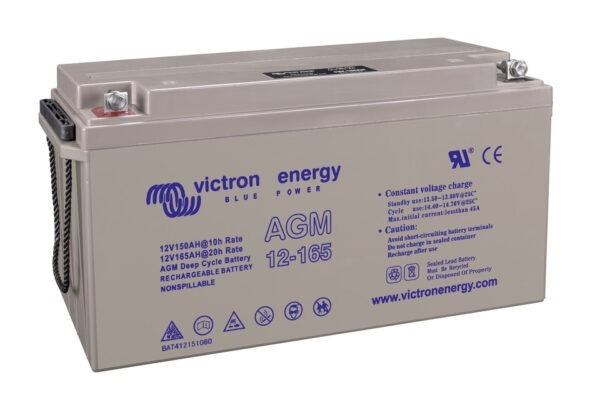 Victron Energy AGM Deep Cycle Battery 12V 165Ah (M8) - BAT412151085