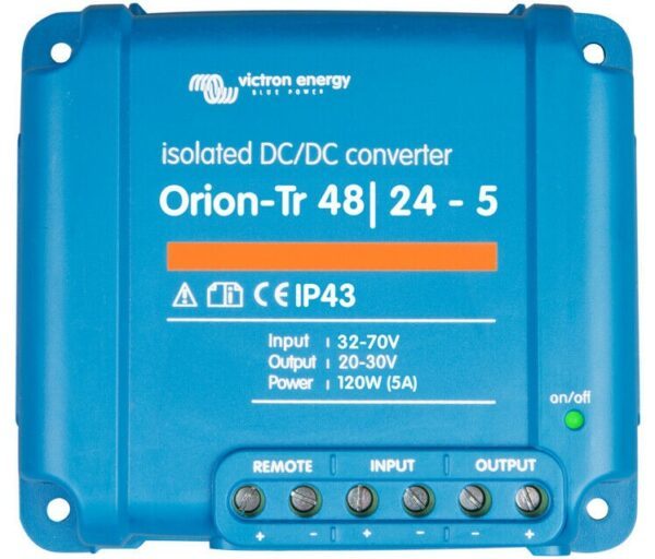 Victron Energy Orion-Tr 48/24-5A (120W) Isolated DC-DC Converter - ORI482410110