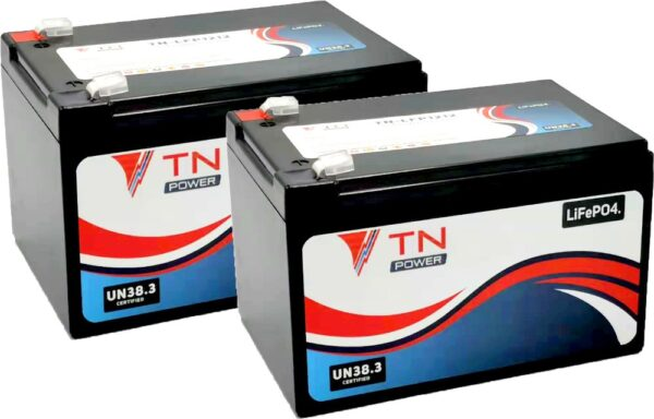 2x TN Power TN12 Lithium Leisure Batteries LiFePO4