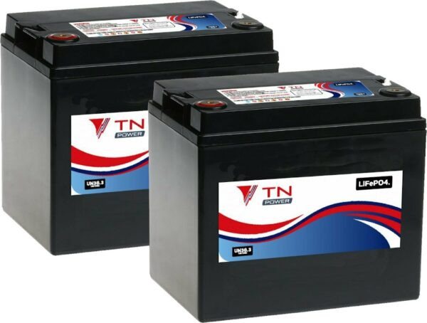 2x TN Power TN33 Lithium Leisure Batteries LiFePO4